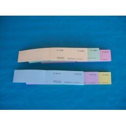 Carnet de 05 tickets de bourriche ou de tombola avec numérotation aléatoire - Lot de 40 carnets
