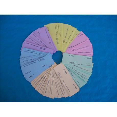 Ticket de bourriche ou de tombola en VRAC - Lot de 200 tickets