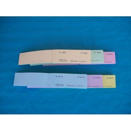 Carnet de 05 tickets de bourriche ou de tombola personnalisés avec numérotation aléatoire - Lot de 1000 carnets