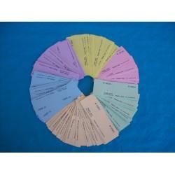 Ticket de bourriche ou de tombola personnalisés en VRAC - Lot de 200 tickets