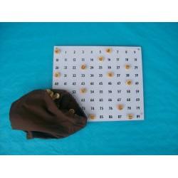 Kit de tirage loto avec jetons buis