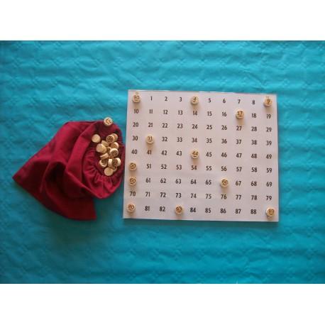 Kit de tirage loto avec jetons hêtre