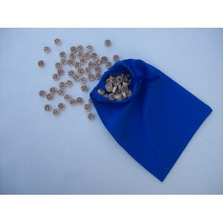 90 jetons de loto en hêtre + sac de tirage