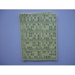 Feuillet jetable de 10 grilles prédécoupé par lot de 100 feuillets