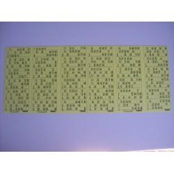 Plaque de 36 cartons de loto réversible - lot de 1 plaque
