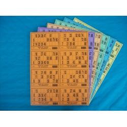 100 Plaques de 8 cartons de loto (soit 800 grilles)