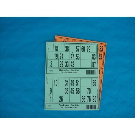 Plaque de 02 cartons de loto - Lot de 20 plaques
