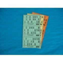 Plaque de 03 cartons de loto - Lot de 10 plaques