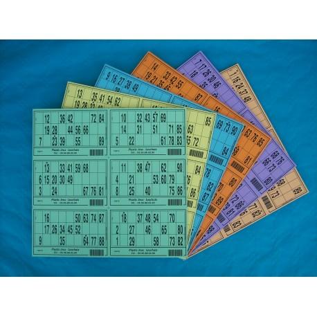 Plaque de 06 cartons de loto - Lot de 5 plaques