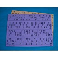 Plaque de 12 cartons de loto horizontale - Lot de 5 plaques