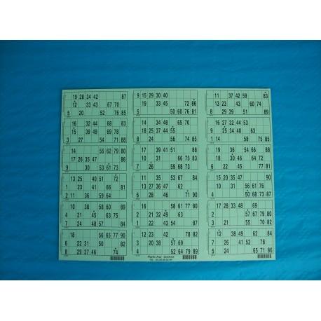 Plaque de 18 cartons de loto - Lot de 2 plaques