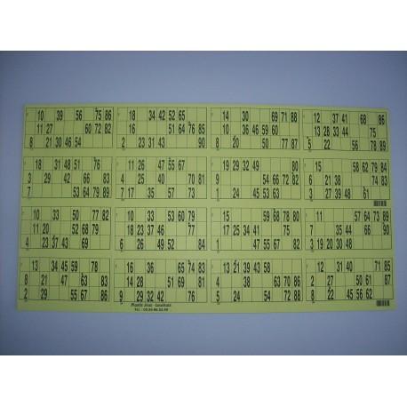Plaque de 16 cartons de loto horizontale - Lot de 3 plaques