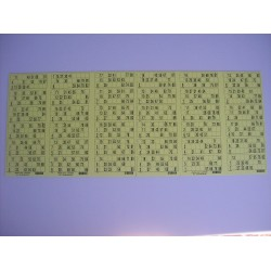 Plaque de 36 cartons de loto - lot de 1 plaque