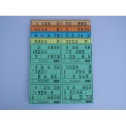 Plaque de 06 cartons de loto panachée - Lot de 5 plaques
