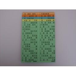 Plaque de 12 cartons de loto verticale panachée - Lot de 5 plaques