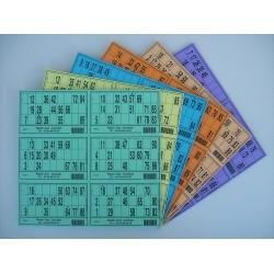 Plaque de 06 cartons de loto réversible - Lot de 5 plaques