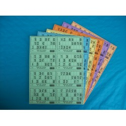 Plaque de 08 cartons de loto réversible - Lot de 5 plaques