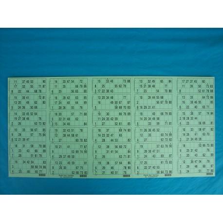 Plaque de 30 cartons de loto réversible - Lot de 2 plaques
