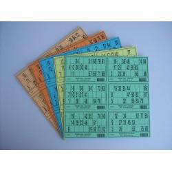 Plaque de 06 cartons de loto - Lot de 100 plaques