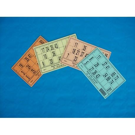 Carton de loto - Lot de 100 cartons