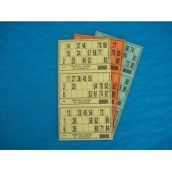 Plaque de 03 cartons de loto - Lot de 100 plaques
