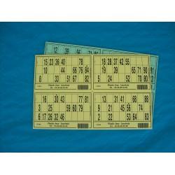 Plaque de 04 cartons de loto - Lot de 100 plaques