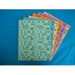 Plaque de 08 cartons de loto - Lot de 50 plaques