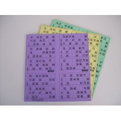 Plaque de 10 cartons de loto - Lot de 50 plaques