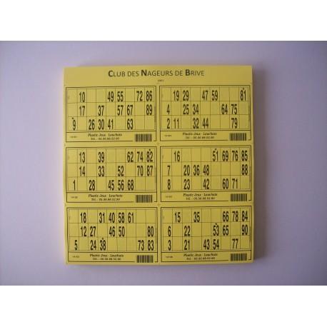 Personnalisation plaques 6-8-10-12 cartons de loto sur devis
